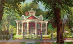 Lady and the Tramp background - Scottie's house.  I loved this house as a kid.  Still do.