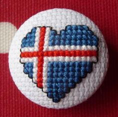 Icelandic Flag Heart