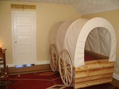 covered wagon BED - how cool!!