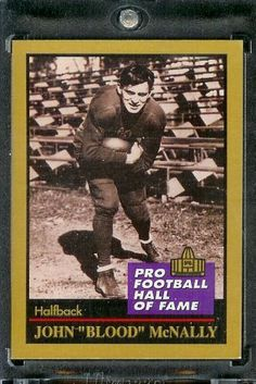 1991 ENOR Johnny McNally Football Hall of Fame Card #97 - Mint Condition - Shipped in Protectivee Acrylic Display Case !! by ENOR. $2.95