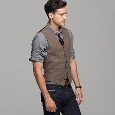 Vests, Jeans and Guy style on Pinterest