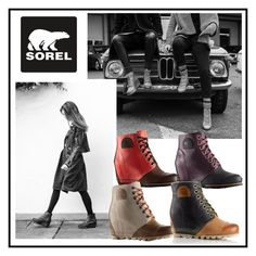 """""""The 1964 Premium Wedge"""" by sorelfootwear ❤ liked on Polyvore featuring SOREL"""