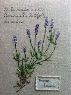 Great Lavender, free template - Ribbon Flower