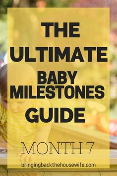 7 Month Old Milestones - Bringing Back the Housewife 7 Month Old Toys, 7 Month Old Baby, 7 Month Baby Milestones, Natural Parenting, Parenting Tips, Taking Care Of Baby, Waiting For Baby, Baby Registry Items, 7 Month Olds