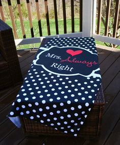 Another great find on #zulily! 'Mrs. Always Right' Beach Towel by Swirl Designs #zulilyfinds