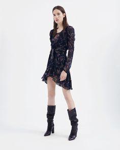 IRO - LOXIE DRESS BLACK/PINK- 340 EUR