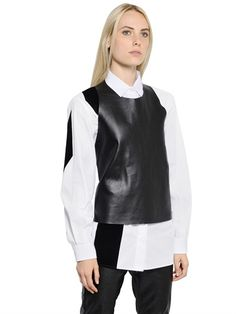 REVERSIBLE NAPPA LEATHER TOP