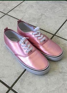 Kaufe meinen Artikel bei #Kleiderkreisel http://www.kleiderkreisel.de/damenschuhe/halbschuhe/150569805-rosapinke-metallic-schuhe-sneaker
