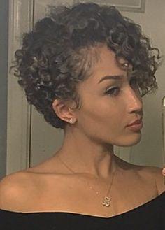 Short Permed Hair, Short Natural Curly Hair, Natural Hair Cuts, Curly Hair Tips, Hair Dos, Short Hair Cuts, Short Curly Pixie, Curly Pixie Hairstyles, Short Curly Haircuts