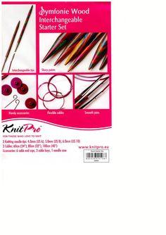 KnitPro Symfonie Wood Interchangeable Starter Set 20604 for sale online Knitting Needle Sets, Circular Knitting Needles, Yarn Needle, Wool Shop, Yarn Shop, Interchangeable Knitting Needles, Shops, Starter Set, Needle Case