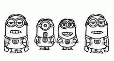 Print Simple Minions Despicable Me Coloring Pages or Download Simple Minions Despicable Me Coloring Pages – Free Online Coloring Pages For Kids