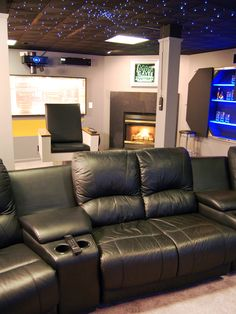 """Featured in Man Caves episode """"Spaceship Cave."""" Love the lighting!"""