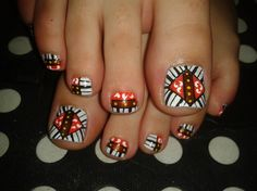 TOES! by R7777 - Nail Art Gallery nailartgallery.nailsmag.com by Nails Magazine www.nailsmag.com #nailart
