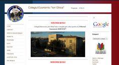 ...cam așa arată site-ul școlii noastre, care integrează platforma Google Apps…