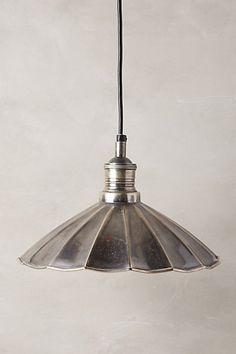 Anthropologie Scalloped Brass Pendant Lamp #anthrofav #greigedesign