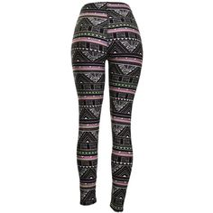 Amazon.com: High Quality Printed Leggings (Electric Aztec): Clothing ❤ liked on Polyvore featuring pants, leggings, aztec print leggings, black pants, black trousers, black aztec leggings e aztec leggings
