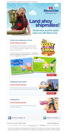 Summer day trips email marketing campaign.