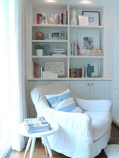 Beautiful bookshelves.