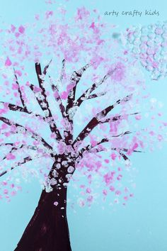 Arty Crafty Kids   Art   Spring Crafts for Kids   Bubble Wrap Spring Blossom Tree   A gorgeous spring craft for kids who love to explore the changing seasons. A simple idea that's perfect for your toddler or preschooler.