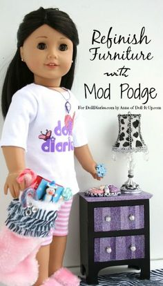 Doll Craft-Refinish a Doll Dresser with Mod Podge