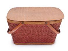 Wicker Picnic Basket, Have Metal, Monkey Decorations, American Logo, Diamond Pattern, Vintage Baskets, Rustic Outdoor, Mid Century, Drinking Tea