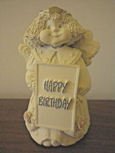"Happy Birthday Angel Figurine 3.75"" x 2.5"""