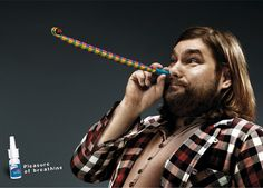 Print advertisement created by Saatchi & Saatchi, Poland for Otrivin, within the category: Pharmaceutical. Creative Advertising, Ads Creative, Print Advertising, Advertising Campaign, Print Ads, Marketing And Advertising, Advertising Ideas, Street Marketing, Grog