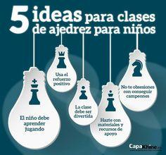 5 ideas para clases de ajedrez para niños.