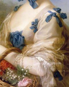Carle van Loo -- Jeanne-Antoinette Poisson, Madame Lenormant d'Etiolles, Marquise de Pompadour (1721-1764), portrait called «Belle Jardiniere»