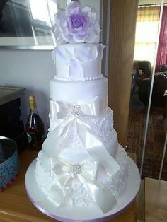 5 tier wedding cake 5 Tier Wedding Cakes, Desserts, Tailgate Desserts, Deserts, Postres, Dessert, Plated Desserts