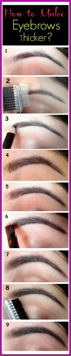 Your eyes are undeniably your best beauty asset. You do not have to wear a dramatic eye makeup every time; just define your brows, add kohl and mascara and see the difference in your look. So, here is a step by step illustration on how to get your eyebrows thicker with the help of makeup.
