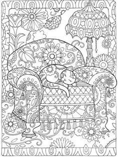 Creative Cats Colouring Book I Marjorie Sarnat