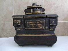 Vintage McCoy Cookie Jar Cast Iron Stove by TheRoseGardenVintage