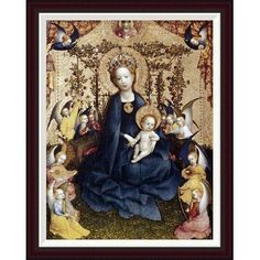 Global Gallery Madonna In The Rose Garden by Stefan Lochner Framed Painting Print Size: