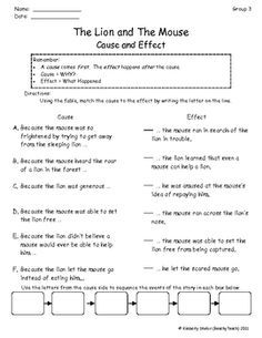 Printables The Lion And The Mouse Worksheets the lion and mouse sequence reading pinterest search skill activity