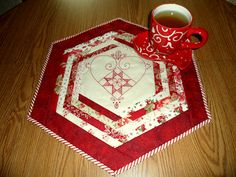 """Quilt as You Go Table Topper with tutorial    """"Sew WE Quilt!"""""""