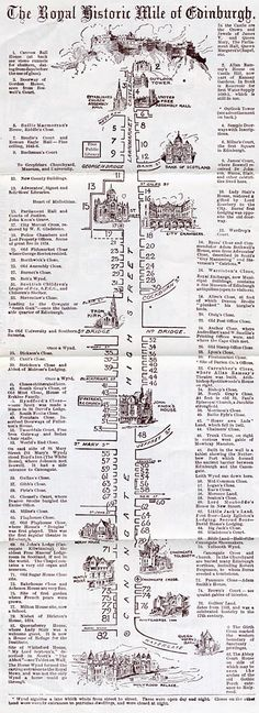 William J Hay - Small leaflet - Royal Mile Map