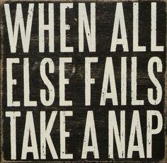'Take a Nap' Box Sign