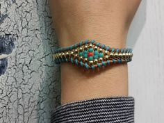Gift Beaded Bracelet Leather Bracelet For Her Evil Eye image 0 Friendship Bracelets With Beads, Woven Bracelets, Handmade Bracelets, Gold And Silver Bracelets, Sterling Silver Bracelets, Bohemian Jewelry, Boho, Ethnic Jewelry, Beaded Jewelry