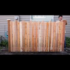 How to Set a Fence Post Learn how to set a fence post. DIY fence posts are the first step to building your fence—and doing it yourself saves money. The post How to Set a Fence Post appeared first on Farah& Secret World. Diy Privacy Fence, Diy Fence, Fence Gates, Fence Ideas, Fences, Yard Ideas, Wood Fence Design, Diy Garden Furniture, Fence Styles
