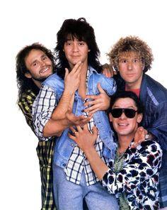 Van Halen - Post-David Lee Roth era with Sammy Hagar. I love van halen, brings back so many memories Van Halen 2, Alex Van Halen, Eddie Van Halen, Sammy Hagar Van Halen, 80s Music, Music Film, Rock Music, Van Hagar, Red Rocker