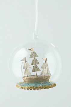 Bon Voyager Globe. Anthropologie. Easy to make using a variety of materials. How would *YOU* do it? --Meggie