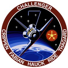 The mission patch for Sally Ride's first space mission, Courtesy NASA Leonard Nimoy, Space Patch, Nasa Patch, Space Shuttle Challenger, Nasa Missions, Space Projects, Space Program, Our Solar System, Space Travel