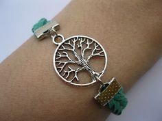 Bracelet-antique wish tree bracelet,tree braid bracelet. $5.99, via Etsy.