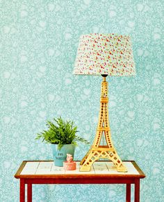 Wallcovering from the collection Rice 2 Wallpaper Roll, Table Lamp, Prints, Inspiration, Color, Home Decor, Diversity, Murals, Walls
