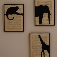 """How perfect if those pages were from """"Out of Africa"""" or """"Jungle Book""""!"""
