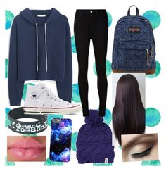 """Back to school: winter/fall edition"" by ayen-m on Polyvore featuring MANGO, JanSport, The North Face, AG Adriano Goldschmied and Converse"