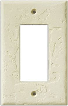 InvisiPlate Single Rocker Paintable Plate Cover, Hand Trowel Contemporary  Switch Plates And