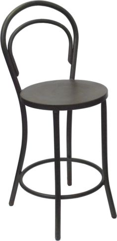 Replica Thonet Metal Bentwood Bar Stool Coffee Rust  sc 1 st  Pinterest & Designed by August Thonet This bentwood hairpin chair classic has ... islam-shia.org
