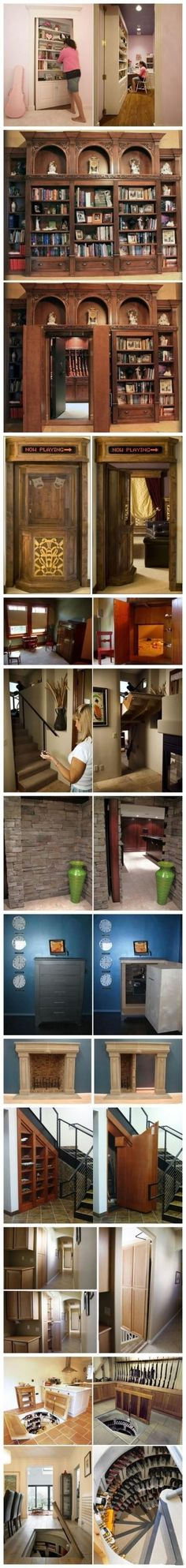 12 excellent concealed door design. I love the flippy stairs one!